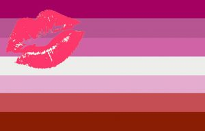 LGBTIQ Sexuality Expression Pride Flag - Lipstick Lesbian Femme